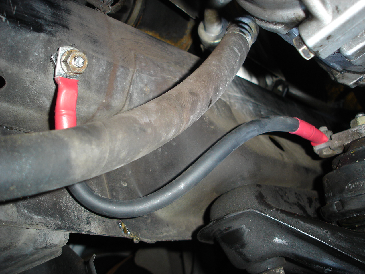 Engine ground strap replacement